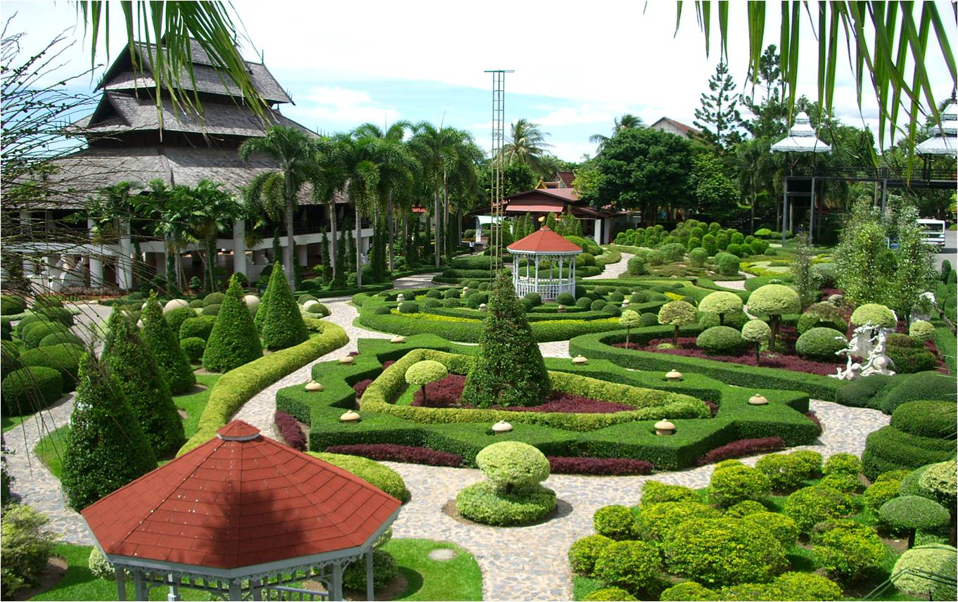 Tropical gardens in khao sok for Tropical landscape